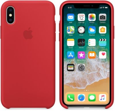 Coque Apple iPhone X Silicone (PRODUCT) RED