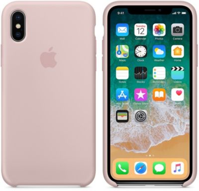 Coque Apple iPhone X Silicone Rose