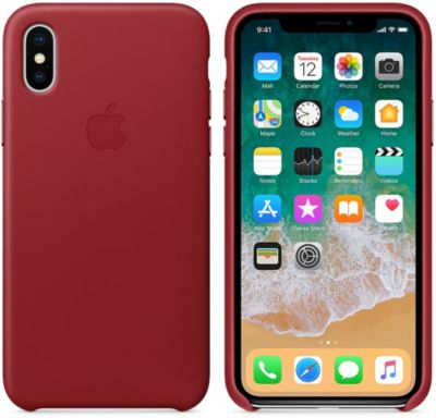 Coque Apple iPhone X cuir (PRODUCT) RED