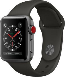 Montre Connectée apple watch 38mm alu gris/gris series 3 cellular