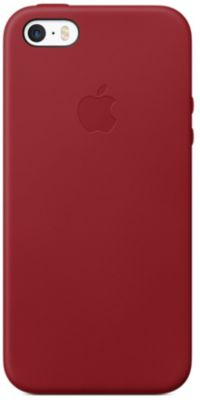 Coque Apple iPhone SE cuir (PRODUCT) RED