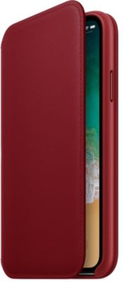 Etui Apple iPhone X Cuir (PRODUCT) RED