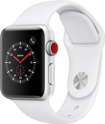 Montre Connectée apple watch 38mm alu argent / blanc series 3 cell