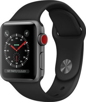 Montre Connectée apple watch 38mm alu gris/noir series 3 cellular
