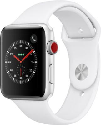 Montre connectée Apple Watch 42MM Alu Argent / Blanc Series 3 Cell