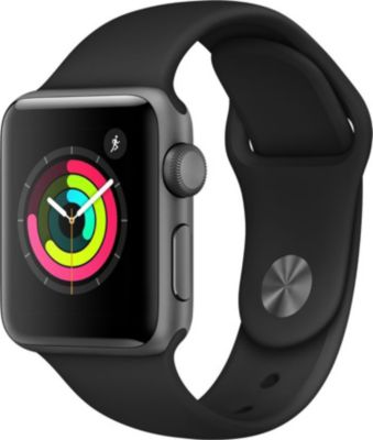 Montre Connectée apple watch 38mm alu gris/noir series 3