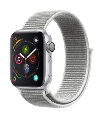 Montre Connectée apple watch 40mm alu arg/ boucle coquillage series 4