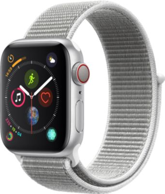 Montre Connectée apple watch 40mm alu/boucle coquillage series 4 cell