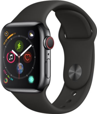 Montre Connectée apple watch 40mm alu gris / noir series 4 cellular