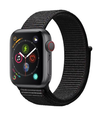 Montre Connectée apple watch 40mm alu gris/boucle noire series 4 cell