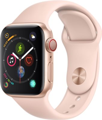 Montre Connectée apple watch 40mm alu or / rose series 4 cellular