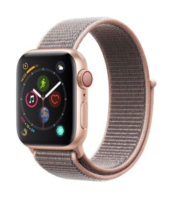 Montre Connectée apple watch 40mm alu or / boucle rose series 4 cell