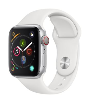 Montre Connectée apple watch 40mm acier / blanc series 4 cell