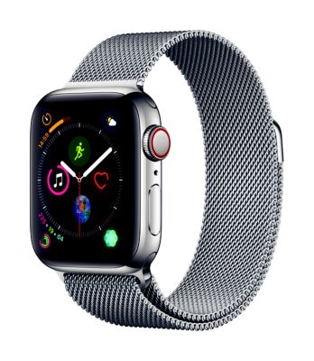 Montre Connectée apple watch 40mm acier/boucle milanais series 4 cell