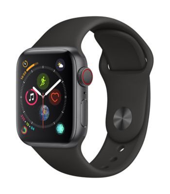 Montre Connectée apple watch 40mm acier noir / noir series 4 cell