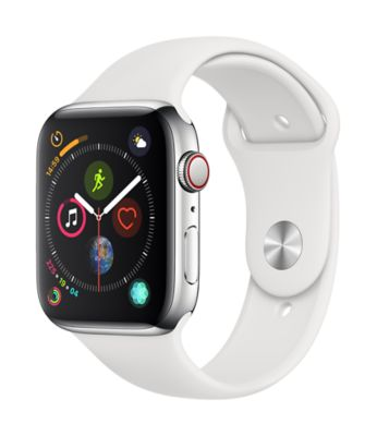 Montre Connectée apple watch 44m acier / blanc series 4 cell