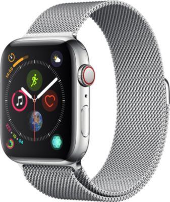 Montre Connectée apple watch 44mm acier/milanais series 4 cell