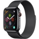Montre APPLE WATCH 44MM Acier Noir/Mil N