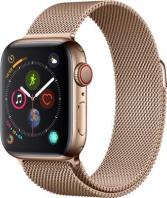Montre Connectée apple watch 44mm acier or/mil or series 4 cell