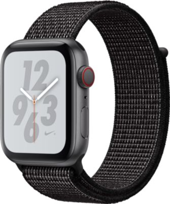 Montre connectée Apple Watch Nike+44MM Alu Gris/Bouc Noir Serie 4 Cel