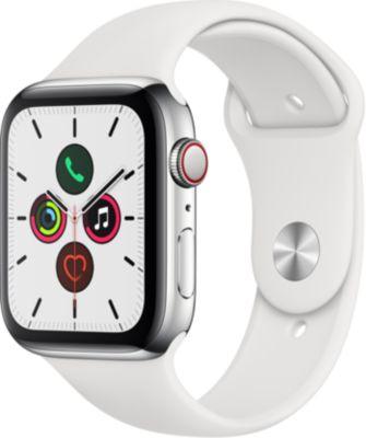 Montre connectée Apple Watch 44MM Acier/Blanc Series 5 Cellular