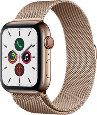 Montre connectée Apple Watch 44MM Acier Or/Boucle Or Mil Series 5 Cel