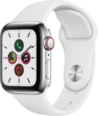 Montre connectée Apple Watch 40MM Acier/Blanc Series 5 Cellular