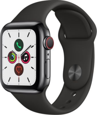 Montre connectée Apple Watch 40MM Acier Noir/Noir Series 5 Cellular