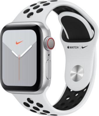 Montre connectée Apple Watch Nike 40 MM Alu Platine/Noir Series 5 Cel