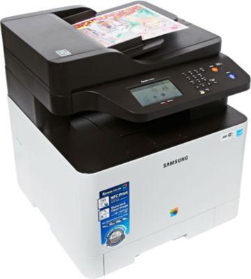 Imprimante laser couleur Samsung SL-C1860FW + Toner Samsung CLT504SN Noir + Papier ramette Essentielb Papier 75g 500 feuilles