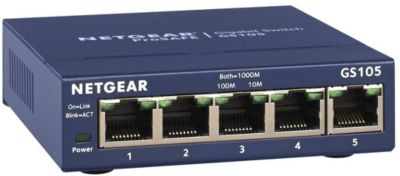 Switch ethernet Netgear Gigabit 5 ports