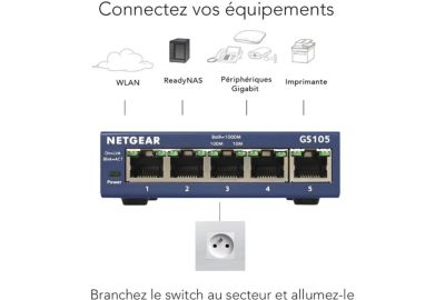 ROUTEUR NETGEAR ORBI PACK ROUTEUR+SATELLITE RBK50-100PES