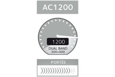 ROUTEUR NETGEAR ORBI PACK ROUTEUR+SATELLITE RBK50-100PES