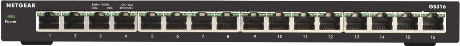 SWITCH NETGEAR 16PT GE UNMANAGED SWITCH