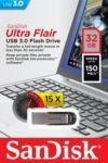 Clé SANDISK ULTRA FLAIR 32GB