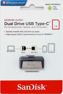 Clé USB Sandisk Ultra Dual Drive USB USB Type C 64GB