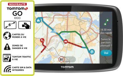GPS Tomtom GO 6100 Monde Cartographie Trafic à vie