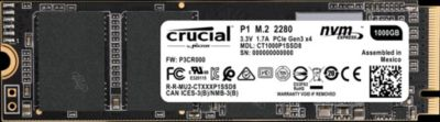 Disque SSD interne Crucial Interne SSD 1000GB P1 M.2