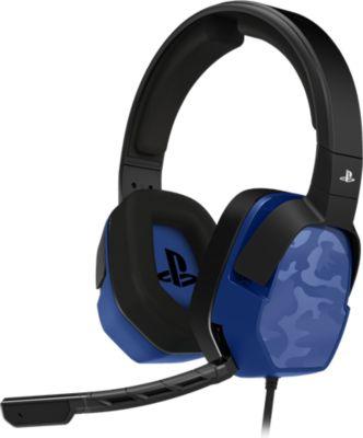 Casque Gamer pdp casque afterglow lvl 3 ps4 camo bleu