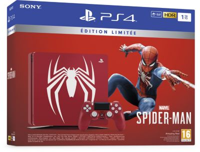 Console Ps4 sony 1to marvel's spider-Man limited ed.