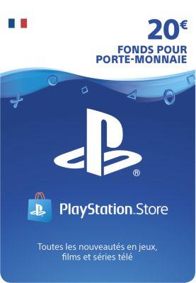 Accessoire Sony carte 20 euros playstation network