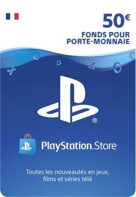 Accessoire Sony carte 50 euros playstation network