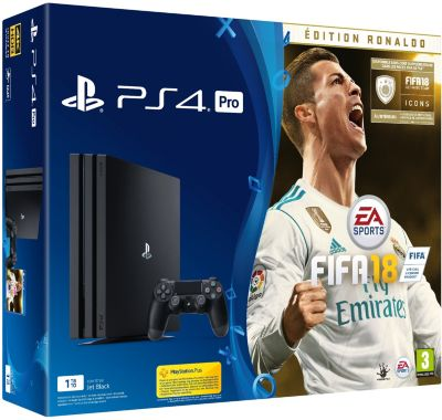 sony ps4 pro 1to fifa 18 edition deluxe ps4 boulanger. Black Bedroom Furniture Sets. Home Design Ideas