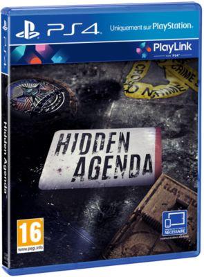 Jeu Ps4 sony hidden agenda