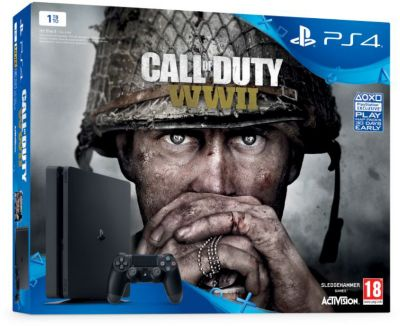 Console PS4 Sony Pro 1To + Call of Duty WWII