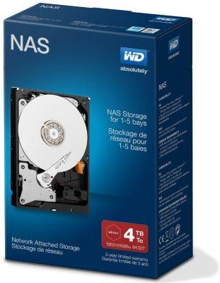 Disque dur interne Western Digital int 3.5'' 4To NASDESKTOP NETWORK RED
