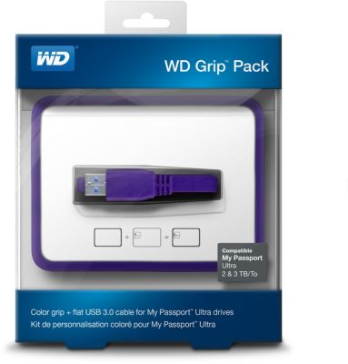 Coque Western Digital Protection Grip Pack 2To Prune