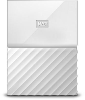 Disque dur externe Western Digital 2,5'' 1 To My Passport Blanc New