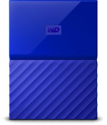 Disque dur externe Western Digital 2,5'' 1 To My Passport Bleu