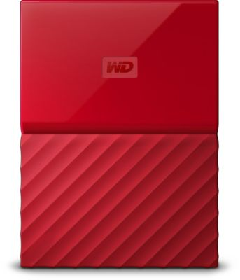 Disque dur externe Western Digital 2,5'' 2 To My Passport Rouge